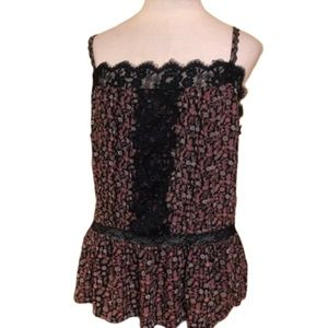 AMERICAN EAGLE OUTFITTERS Floral Lace Top Size XL